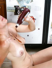 Horny housewife shows off..